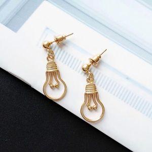 Gold Lightbulb Earrings